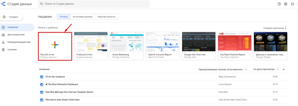 Google Data Studio – центр отчетов, о котором вы мечтали