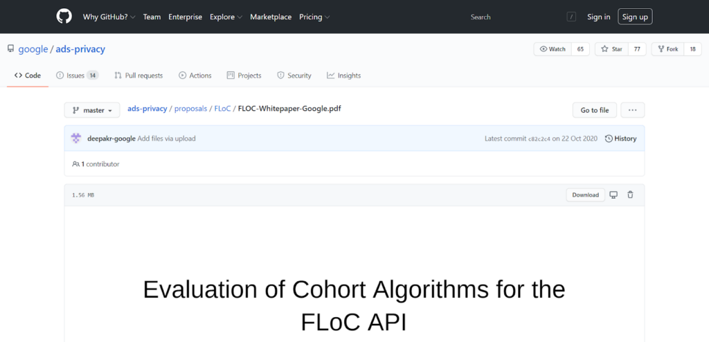 Техническая документация FLoC на GitHub